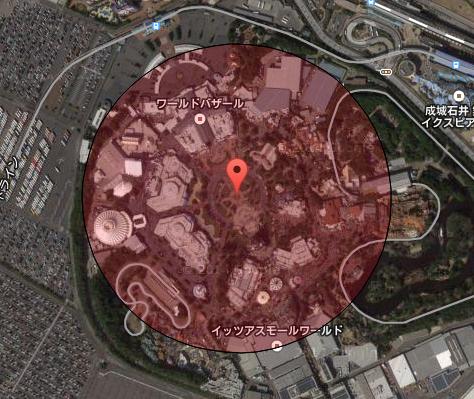 【R1web】地図上の距離計測 v4 円での範囲表示